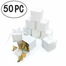 "50pk White 2"" x 2"" Wedding Gift Box Favor Candy Bridal Shower Favor Present"