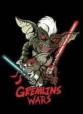 GREMLINS & STAR WARS MASHUP *OLD SKOOL CUSTOM ARTWORK* Mens Shirt *MANY OPTIONS*