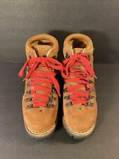 Vtg Mens 8M Brn Roughout Leather Italian Made Mountaineering Hiking Stomper Boot