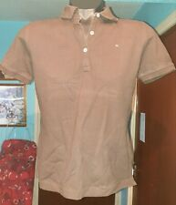 "ladies tommy hilfiger brown t shirt,M,18"" pit to pit 36""chest,used"