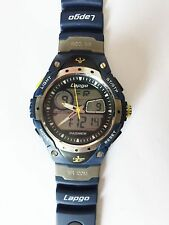 Highquality Pasnew Water-proof Dual Time Boys Girls Sport Watch Wrist Watch Blue