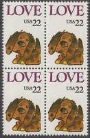 Scott # 2202 - Block Of 4 - Love Puppy - MNH - 1986