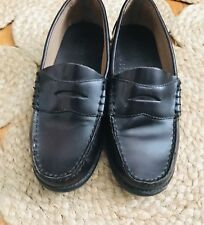 Bass Boys Leather Loafers Size 7 Medium Brown