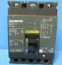 * Square D 70 Amp 3 Pole Circuit Breaker Fal34070 . M-82