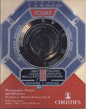 CHRISTIE'S PHOTOGRAPHIC POSTERS EMHEMERA Kodak Bikoff Coll Auction Catalog 1993