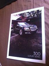 2012 CHRYSLER 300 LUXURY SERIES COLOR BROCHURE CATALOG PROSPEKT