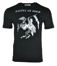 NEW MCQ RATTLE OF DOOM FEAR NOTHING T-SHIRT BLACK & WHITE ALEXANDER MCQUEEN RARE