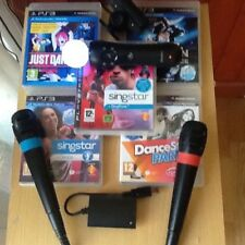 Singstar PS3 bundle Michael Jackson Just Dance 4 StarParty Move camera mics
