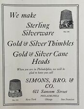1911 Jewelry & Optical Trade Journal Jewelers Simon Bros Watches Sterling Silver