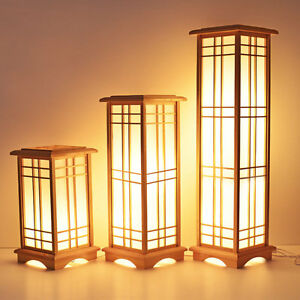 Japanese Style Floor Lamp Washitsu Tatami Decor Window Pane Shoji Lamp Wood Lamp