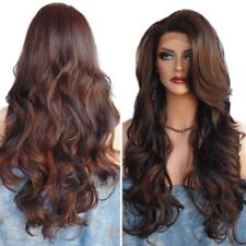 Synthetic Long Curly Wig Side Part Mixed Color Heat Resistant Hair Casual 70cm