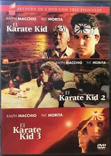 El Karate Kid 1, 2 & 3 (DVD, 3-Disc Set) SPANISH LANGUAGE - NEW SEALED