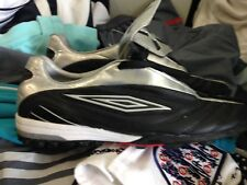 UMBRO ELEMENT black ASTRO trainerst in  LEATHER size 8 uk at £20