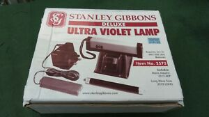 STANLEY GIBBONS DELUXE ULTRA VIOLET LAMP WITH MAINS ADAPTER