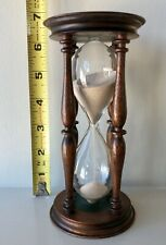 Victorian 19th C Hourglass Sand Timer Wood Glass Nautical