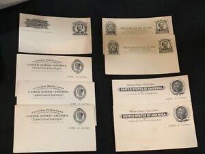 8 UNITED STATES Cuba UX1 & UX2 Mint Postcard Unused CV $15 each