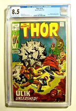 Thor #173 (Marvel February 1970) CGC 8.5 Off-White to White Pages Stan Lee Story