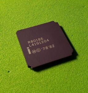 INTEL ORIGINAL BRAND NEW R80186 80186 - 16-Bit Microprocessor - LCC Golden