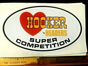Hooker Headers Super Competition Hot Rod Speed Shop Drag racing decal sticker