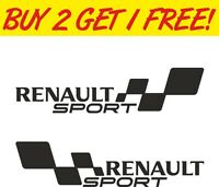 2 x Renault Sport Flags Van Window Funny JDM VW DUB VAG EURO Vinyl Decal Sticker