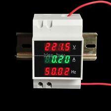 AC 80-300V 100A 45-65Hz Din-rail digital AC voltmeter ammeter frequency meter