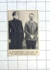 1936 Count Ciano Photographed With Herr Hitler At Berchtesgaden