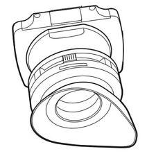 Véritable Sony Pièces A1752761A Oeil Tasse Viseur pour PMW-350 320K 320 Lassy