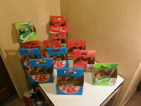 cardboard Coca-Cola Sprite RC Cola caddy lot (12 qty) 1980s 12oz bottle holders