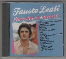 FAUSTO LEALI RACCOLTA DI SUCCESSI CD F. C. NO BARCODE COME NUOVO!!!