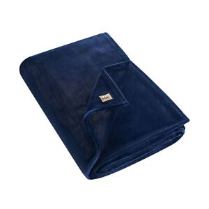 """UGG Coco Luxe Throw Blanket  Navy  50""""X70"""""""