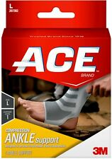ACE Brand Compression Ankle Support, Large 1 Each