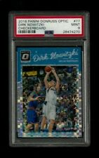 Dirk Nowitzki 2016-17 Donruss Optic #77 CHECKERBOARD PSA 9 Mint Dallas Mavericks