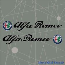 2 x ALFA ROMEO Aufkleber Sticker Auto Spider Giulia Giulietta