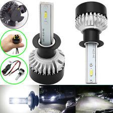2 x Auto Car LED Headlights IP65 H1 HID Bulb 6000K 9000LM 48W Xenon Lights Kit