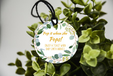 10 White Gift Tags Baby Shower  Personalised Bomboniere Favour Pop it when