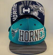 NBA Charlotte Hornets adidas Snapback Hat Cap Teal Gray