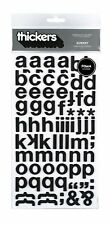 American Crafts Thickers Foam Letter Stickers, Subway Black