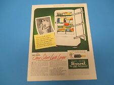 1948 SERVEL The Gas Refrigerator Stays Silent - Lasts Longer Print Ad PA005
