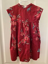 Tea Collection Girls Chinoise Floral Party Dress Red China 2013 Girls Size 3
