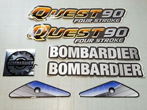 OEM 2003 Bombardier Quest 90 Decal Set A8770017200A *NEW* Can-Am