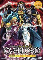 Overlord Anime DVD (Season 1+2)(Vol : 1 to 26 end + OVA) with English Audio