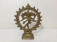 """Vintage India Brass Hindu God Naraja Natraj Figurine Statue, 6 5/8"""" T x 5 1/4"""" W"""