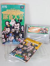 vintage JEU de CONSOLE SNES Super Famicom SHVC-IQ game Mahjong Taikai JAPAN koei