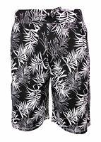 Mens Shorts Holiday 100% Cotton Ex Store Drawstring Waist Palm Summer Beach New