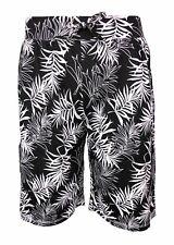 Mens Shorts Swim Holiday 100% Cotton Ex Store Drawstring Waist Palm Summer Beach