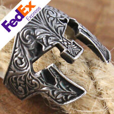 Spartan Gladiator Helmet 925 Sterling Silver Oxidized Turkish Handmade Men Ring