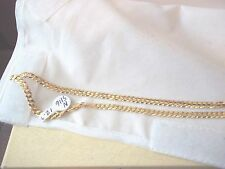 14K SOLID YELLOW GOLD CHAIN, CURB LINK