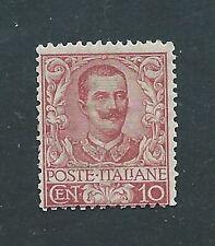 """1901 Regno d'Italia """"FLOREALE 10 cent CARMINIO"""" MNH NUOVO LUSSO** Firmato DIENA"""
