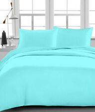 US Bedding Items ,1000 Thread Count 100% Egyptian Cotton Aqua Blue Solid