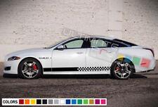 Sticker Decal Vinyl Side Door Stripes for Jaguar XJ Sport 2014 - 2017 Bumper Kit